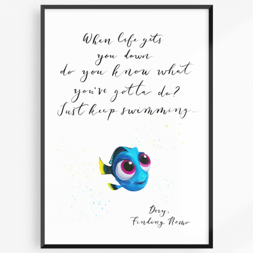 Dory Just keep swimming print