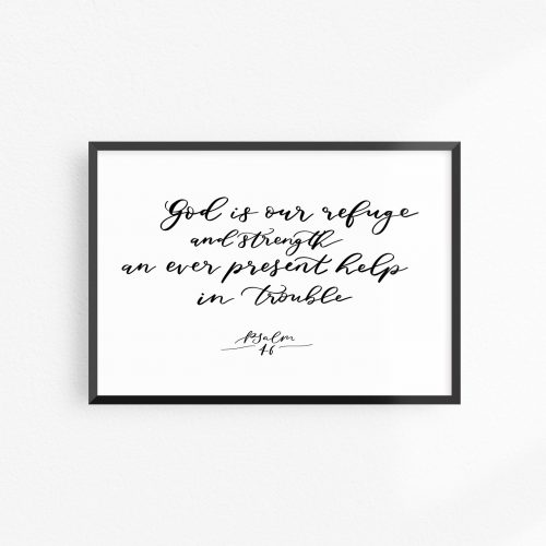 Ever Present help in trouble verse print