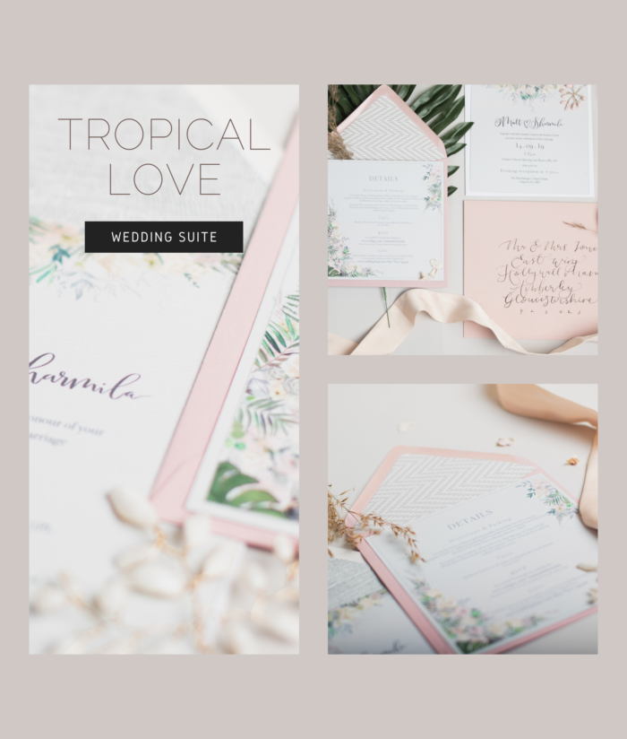 Tropical Wedding Invite