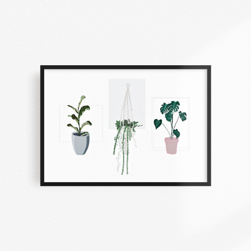 Three plants print