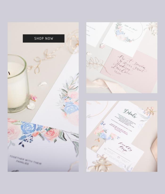 Spring Bliss Wedding Invites