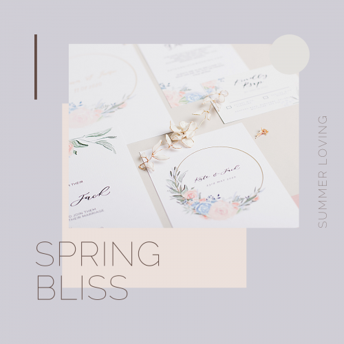 spring bliss invites