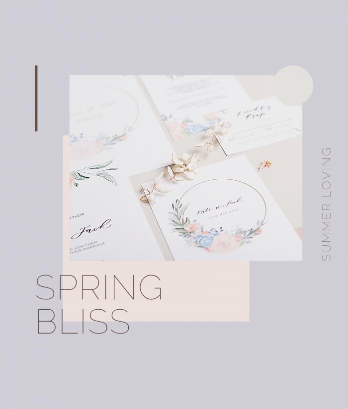 spring bliss invites