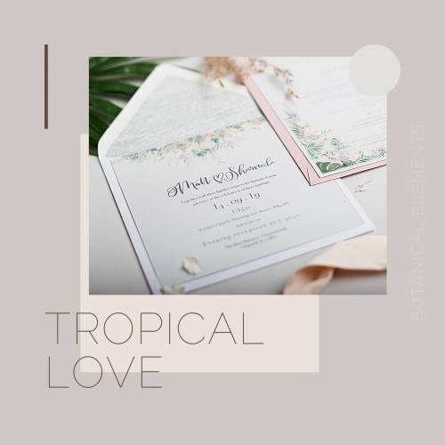 tropical love invites