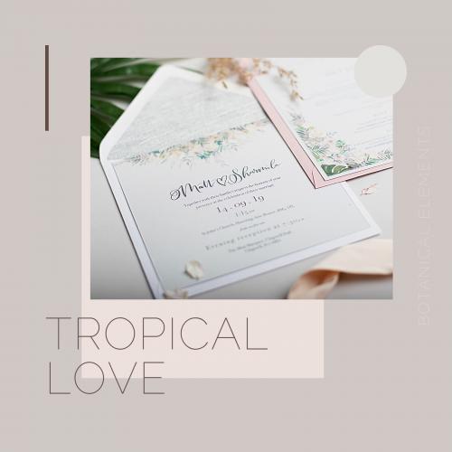 tropical love invites