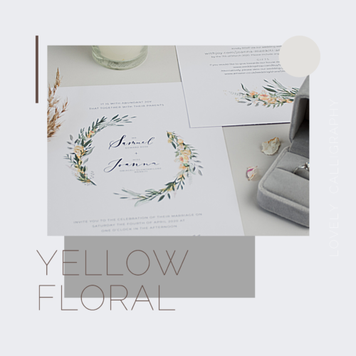 Yellow floral invites