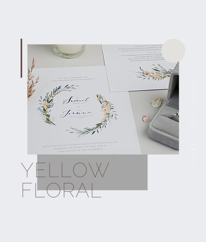 Yellow floral invites