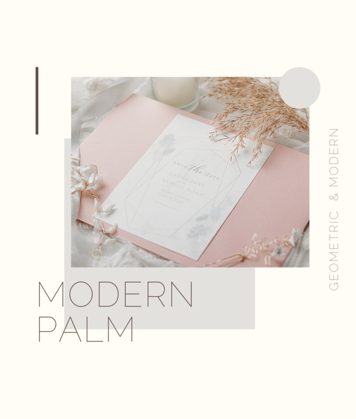 Modern Palm Invites