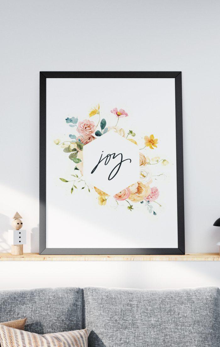 joy floral print